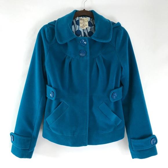 Anthropologie Jackets & Blazers - Anthropologie Tulle Hooded Jacket Size Medium